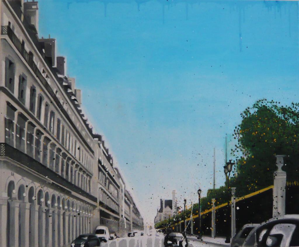 Paris / huile sur toile 73 x 60 cm / 2010