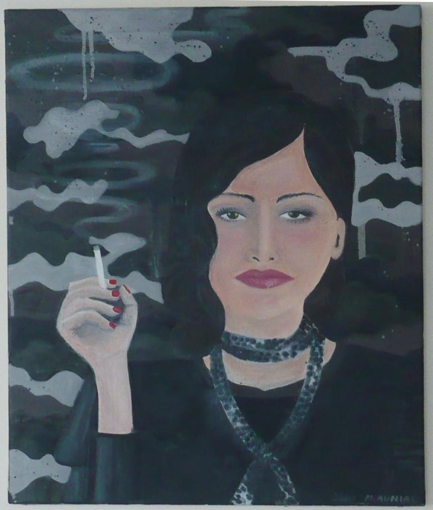 Nathalie / huile sur toile 35 x 52 cm / 2010