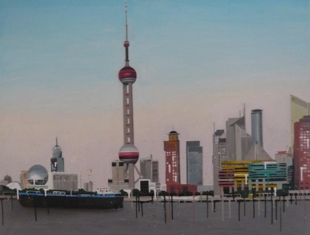 Shanghaï / huile sur toile 89 x 114 cm / 2010