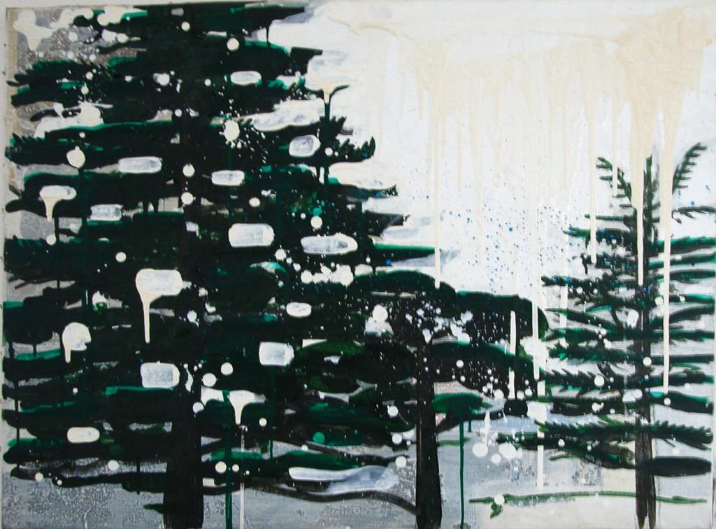Cèdre du liban / huile sur toile 89 x 114 cm / 2001