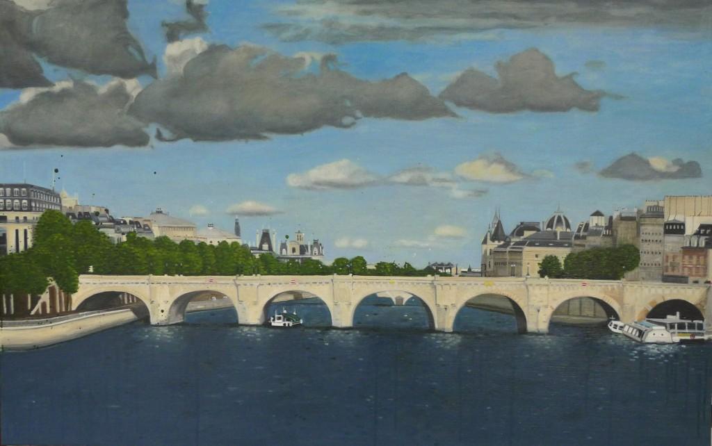 Paris / huile sur toile 89 x 114 cm / 2013